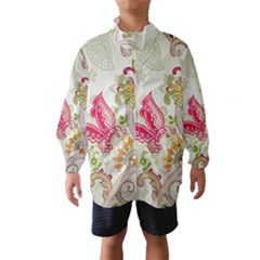 Floral Pattern Background Wind Breaker (Kids)