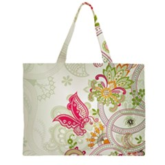 Floral Pattern Background Large Tote Bag