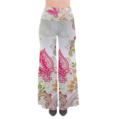 Floral Pattern Background Pants