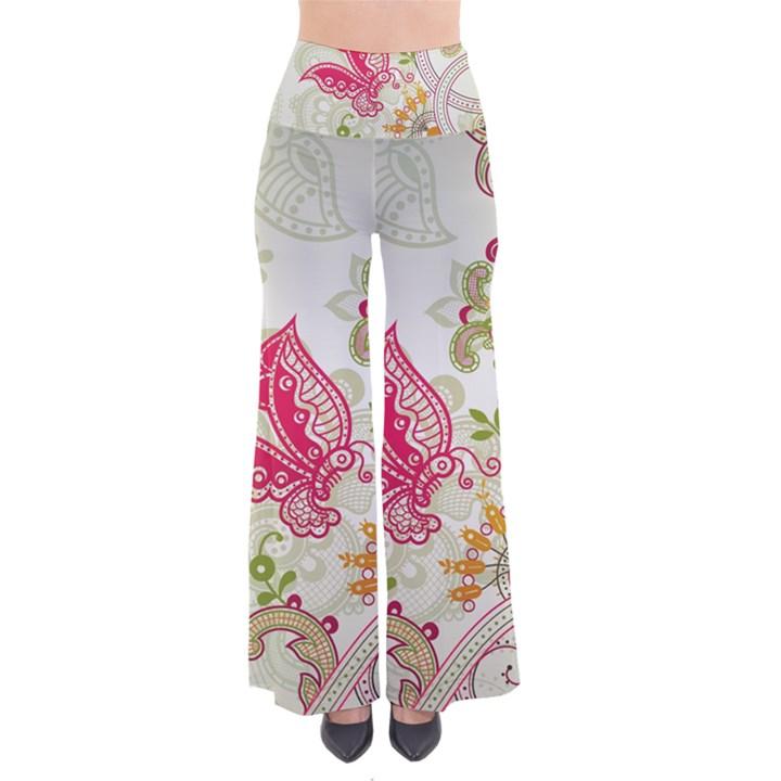 Floral Pattern Background Pants