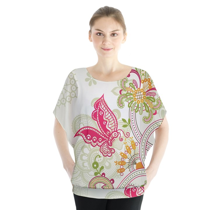 Floral Pattern Background Blouse