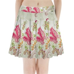 Floral Pattern Background Pleated Mini Skirt