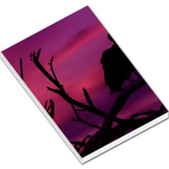 Vultures At Top Of Tree Silhouette Illustration Large Memo Pads