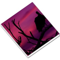 Vultures At Top Of Tree Silhouette Illustration Small Memo Pads