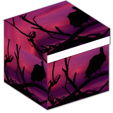 Vultures At Top Of Tree Silhouette Illustration Storage Stool 12