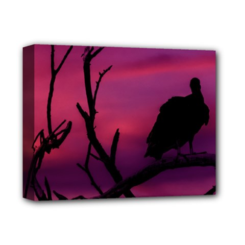 Vultures At Top Of Tree Silhouette Illustration Deluxe Canvas 14  x 11