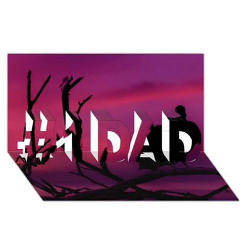 Vultures At Top Of Tree Silhouette Illustration #1 DAD 3D Greeting Card (8x4)