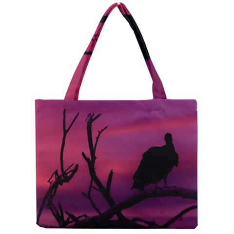 Vultures At Top Of Tree Silhouette Illustration Mini Tote Bag