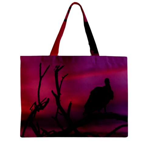 Vultures At Top Of Tree Silhouette Illustration Zipper Mini Tote Bag