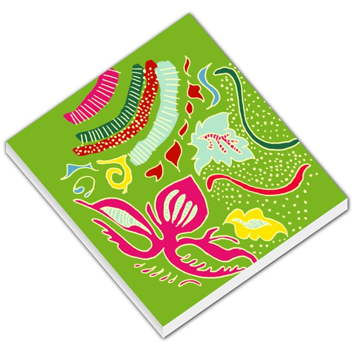 Green Organic Abstract Small Memo Pads