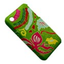 Green Organic Abstract Apple iPhone 3G/3GS Hardshell Case (PC+Silicone) View5