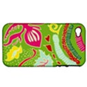 Green Organic Abstract Apple iPhone 4/4S Hardshell Case (PC+Silicone) View1