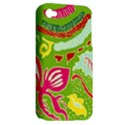 Green Organic Abstract Apple iPhone 4/4S Hardshell Case (PC+Silicone) View2