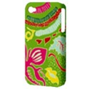 Green Organic Abstract Apple iPhone 4/4S Hardshell Case (PC+Silicone) View3