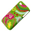 Green Organic Abstract Apple iPhone 4/4S Hardshell Case (PC+Silicone) View4