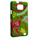 Green Organic Abstract Samsung Galaxy S II i9100 Hardshell Case (PC+Silicone) View2