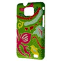 Green Organic Abstract Samsung Galaxy S II i9100 Hardshell Case (PC+Silicone) View3