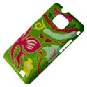 Green Organic Abstract Samsung Galaxy S II i9100 Hardshell Case (PC+Silicone) View4