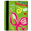 Green Organic Abstract Samsung Galaxy Tab 10.1  P7500 Flip Case View2