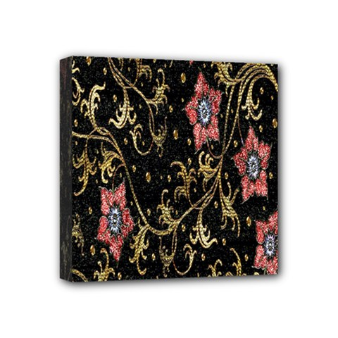 Floral Pattern Background Mini Canvas 4  x 4