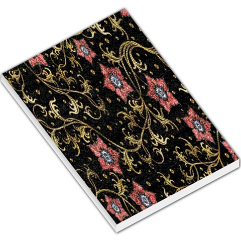 Floral Pattern Background Large Memo Pads