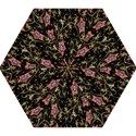 Floral Pattern Background Mini Folding Umbrellas View1