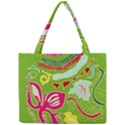 Green Organic Abstract Mini Tote Bag View1