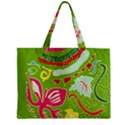 Green Organic Abstract Zipper Mini Tote Bag View1