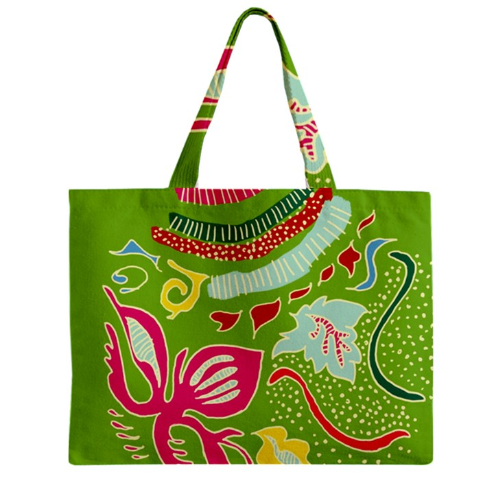 Green Organic Abstract Zipper Mini Tote Bag