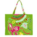 Green Organic Abstract Large Tote Bag View1