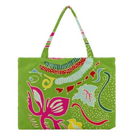 Green Organic Abstract Medium Tote Bag