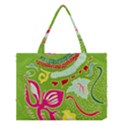 Green Organic Abstract Medium Tote Bag View1