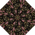 Floral Pattern Background Hook Handle Umbrellas (Small) View1