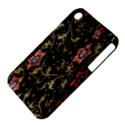 Floral Pattern Background Apple iPhone 3G/3GS Hardshell Case (PC+Silicone) View4