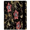 Floral Pattern Background Samsung Galaxy Tab 10.1  P7500 Flip Case View3