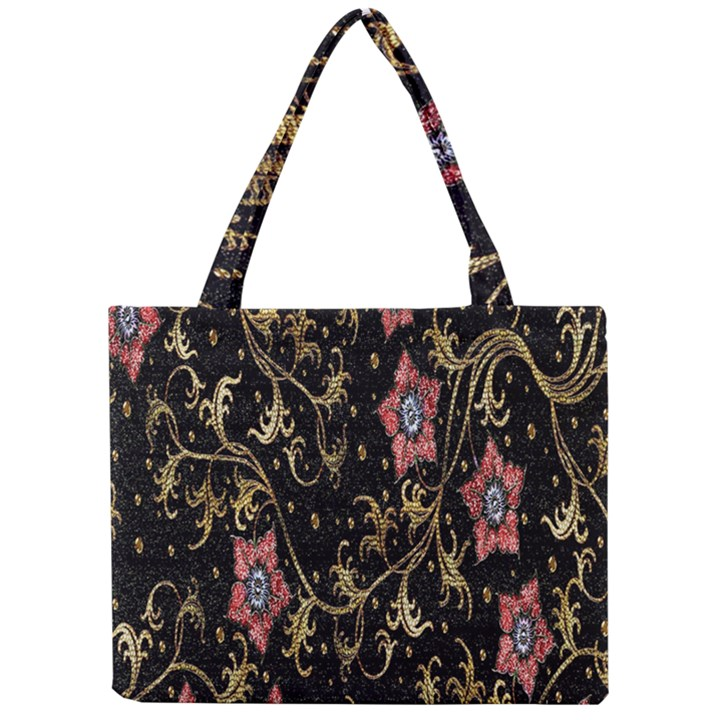 Floral Pattern Background Mini Tote Bag