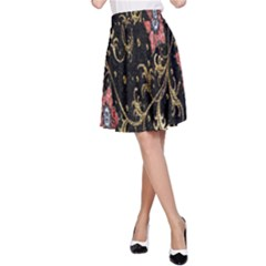 Floral Pattern Background A-Line Skirt