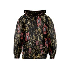 Floral Pattern Background Kids  Zipper Hoodie