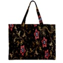 Floral Pattern Background Zipper Mini Tote Bag View2