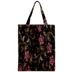 Floral Pattern Background Zipper Classic Tote Bag