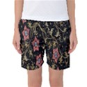 Floral Pattern Background Women s Basketball Shorts View1