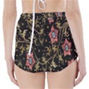 Floral Pattern Background High-Waisted Bikini Bottoms View2
