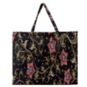 Floral Pattern Background Zipper Large Tote Bag View1