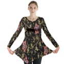 Floral Pattern Background Long Sleeve Tunic  View1
