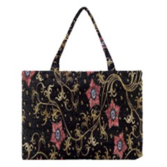 Floral Pattern Background Medium Tote Bag