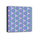 Colorful Retro Geometric Pattern Mini Canvas 4  x 4  View1