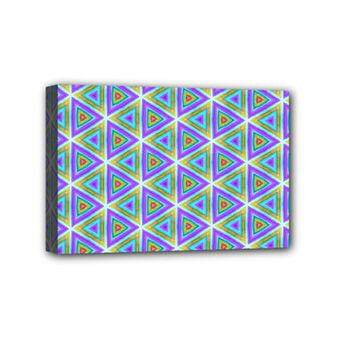 Colorful Retro Geometric Pattern Mini Canvas 6  X 4