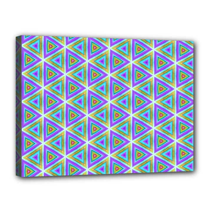 Colorful Retro Geometric Pattern Canvas 16  x 12