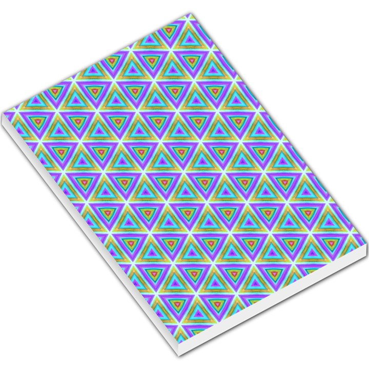 Colorful Retro Geometric Pattern Large Memo Pads