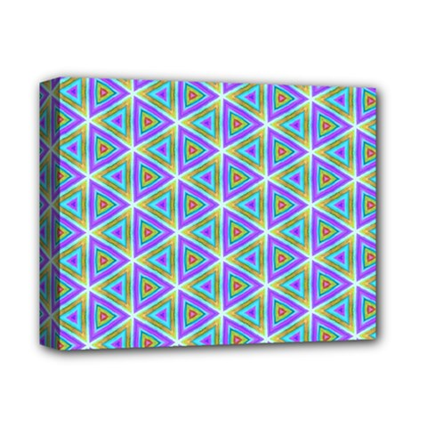 Colorful Retro Geometric Pattern Deluxe Canvas 14  X 11